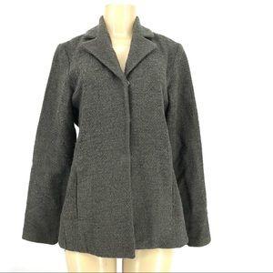 Eileen Fisher Women Woven Wool Mohair blazer